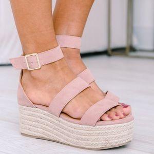 The Adalyn Wedges Pink